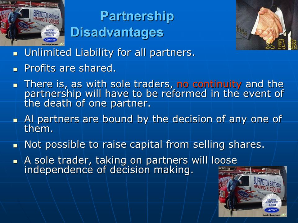 Partnership Disadvantages