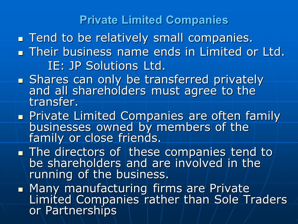 Private Limited Companies