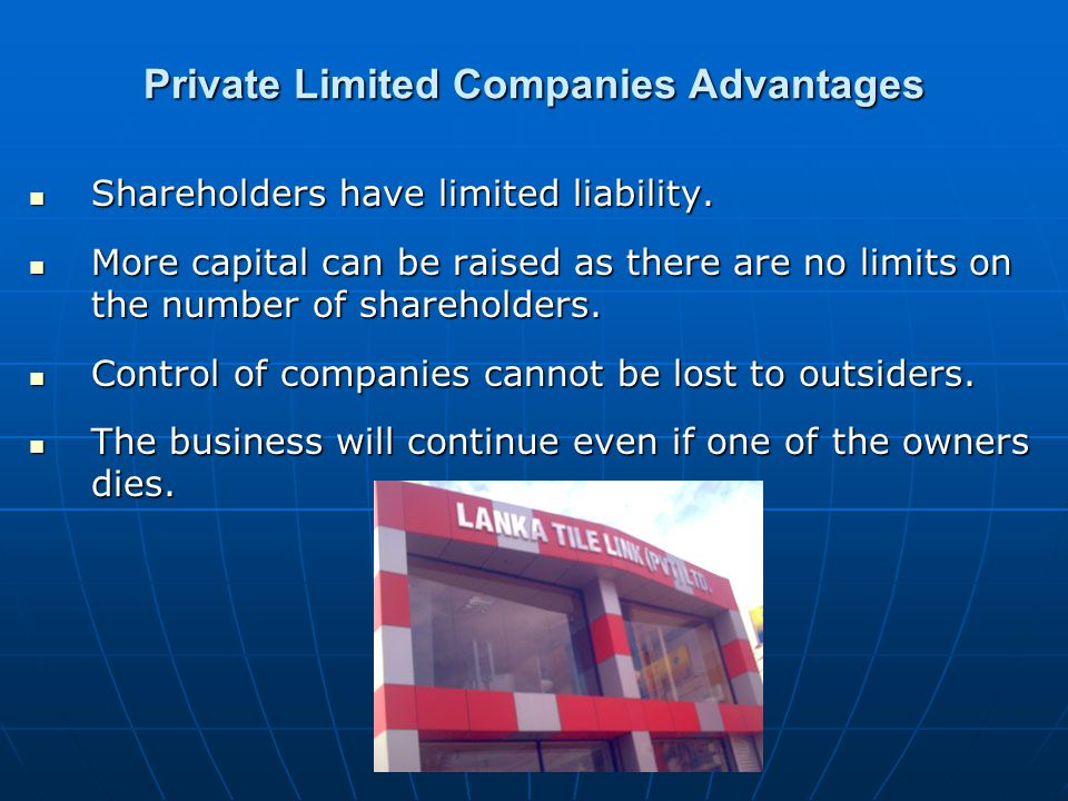 Private Limited Companies Advantages