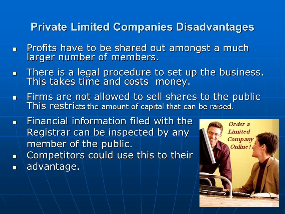 Private Limited Companies Disadvantages