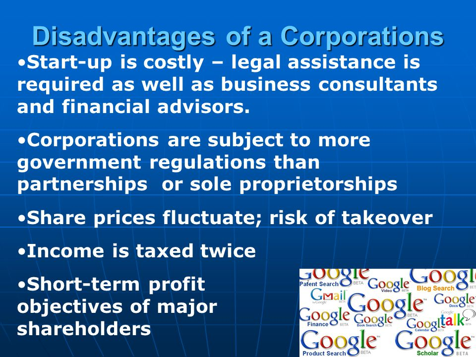 Disadvantages of a Corporations