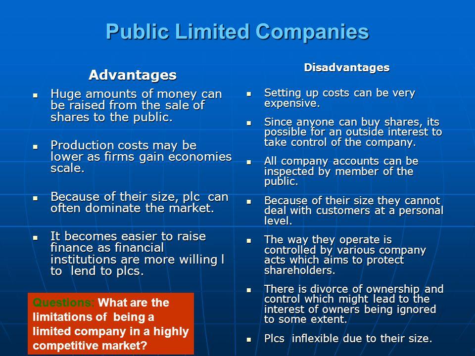 Public Limited Companies