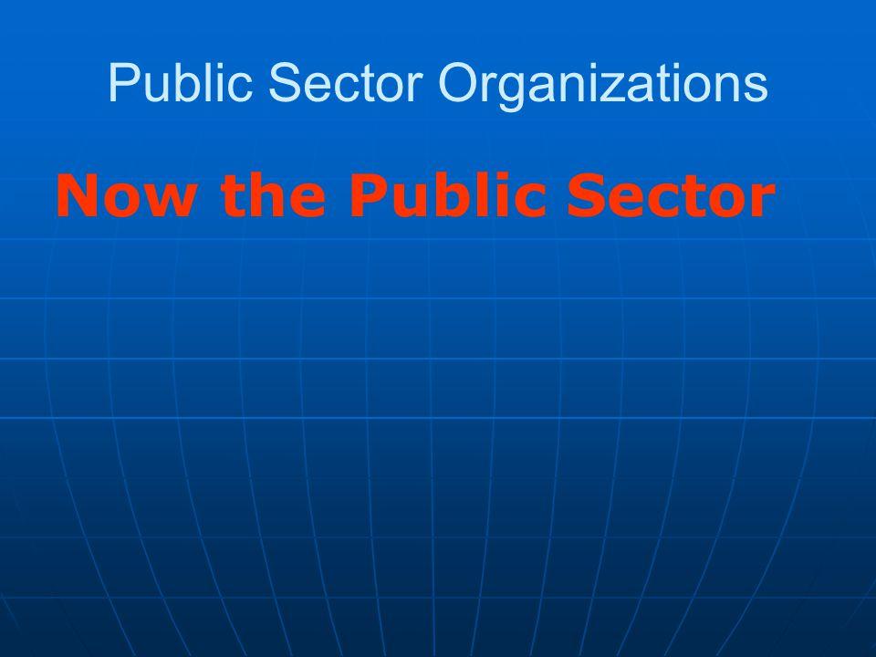 Public Sector Organizations