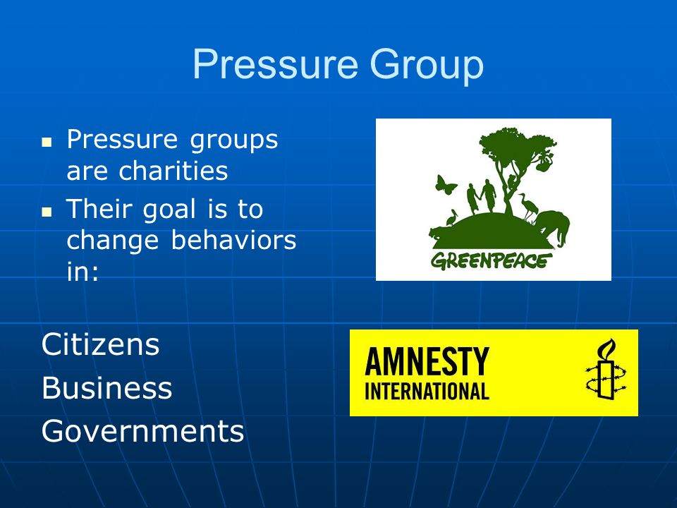 Pressure Group Citizens Business Governments