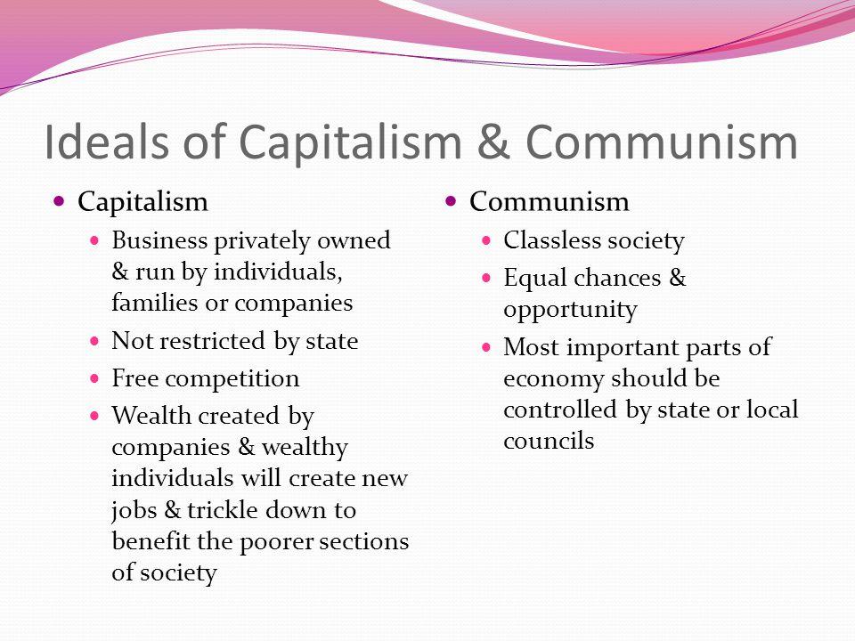 Ideals of Capitalism & Communism