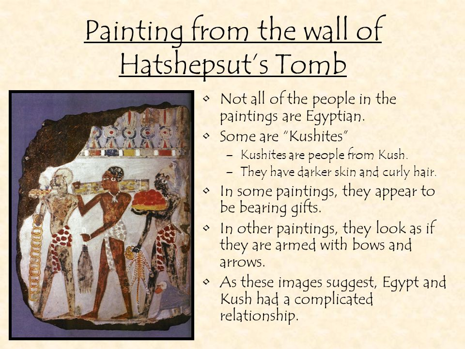 Painting from the wall of Hatshepsut's Tomb