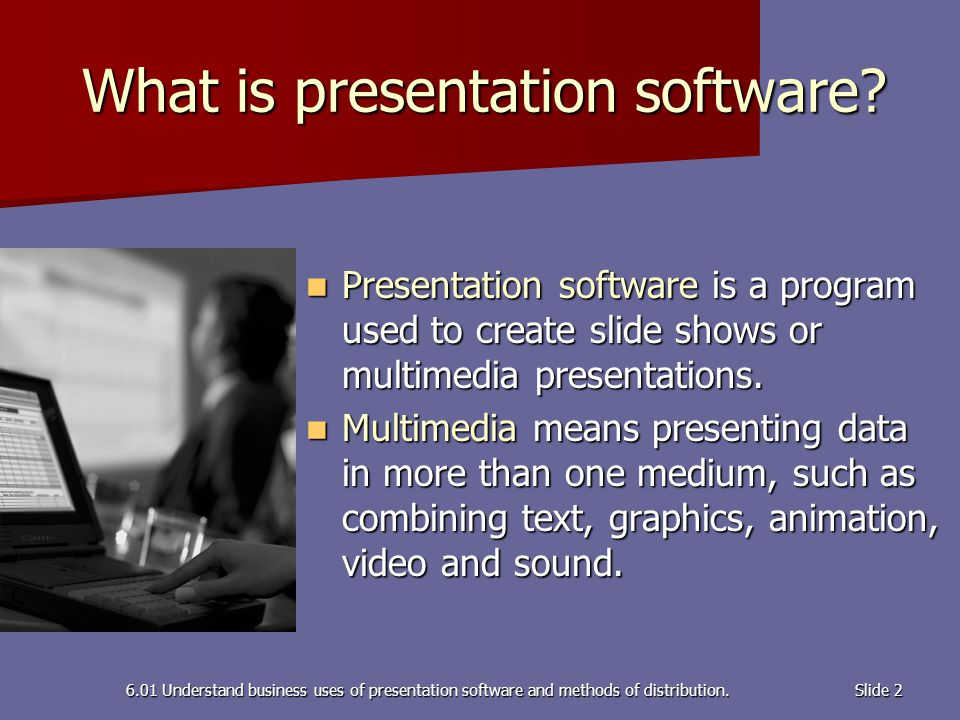 multimedia business presentation