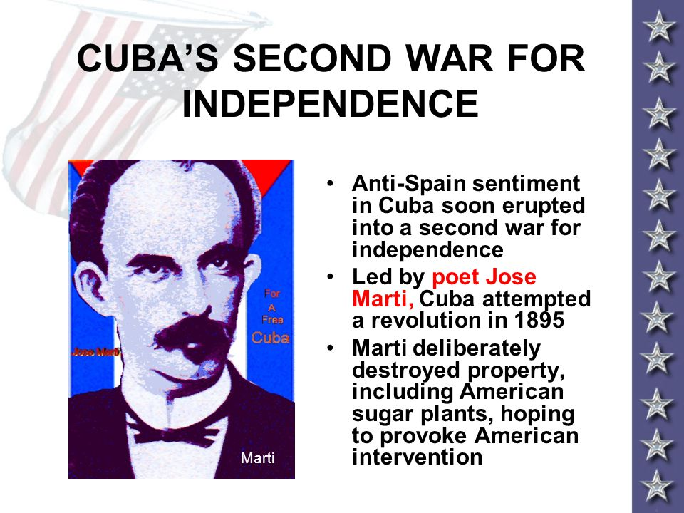 CUBA'S SECOND WAR FOR INDEPENDENCE