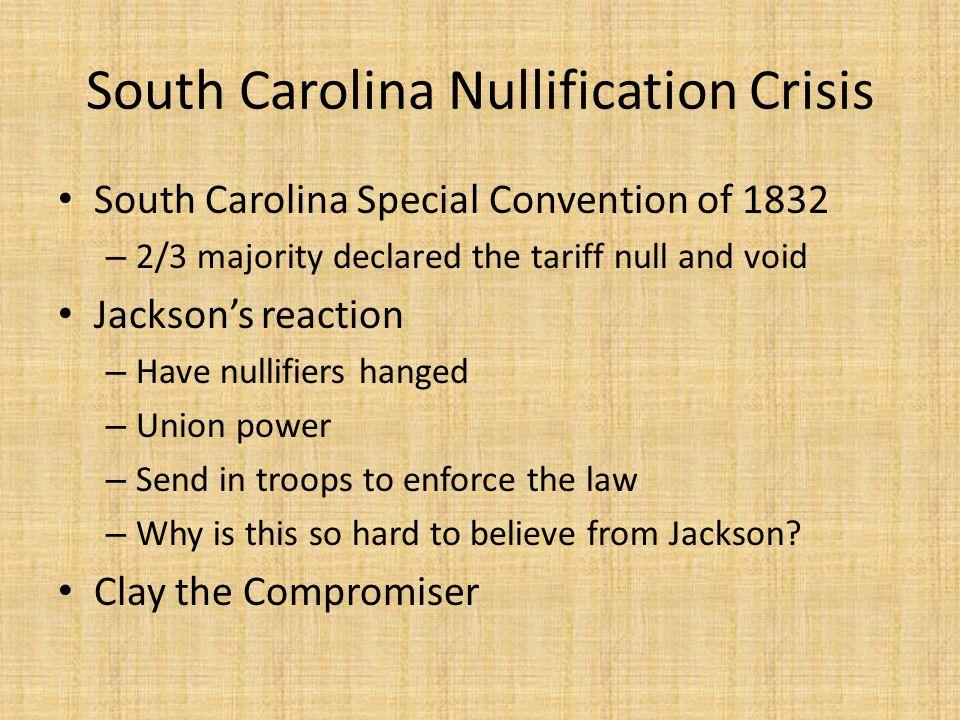 South Carolina Nullification Crisis