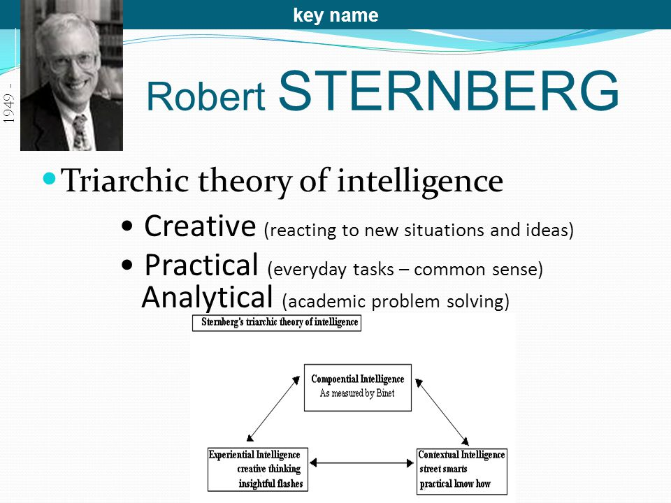 Robert STERNBERG Triarchic theory of intelligence