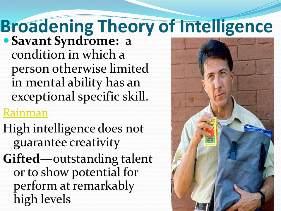 Broadening Theory of Intelligence