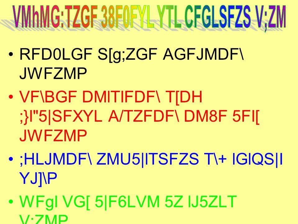 VMhMG:TZGF 38F0FYL YTL CFGLSFZS V;ZM