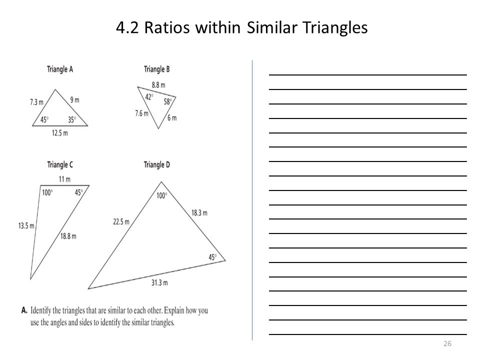 4.2 Ratios within Similar Triangles