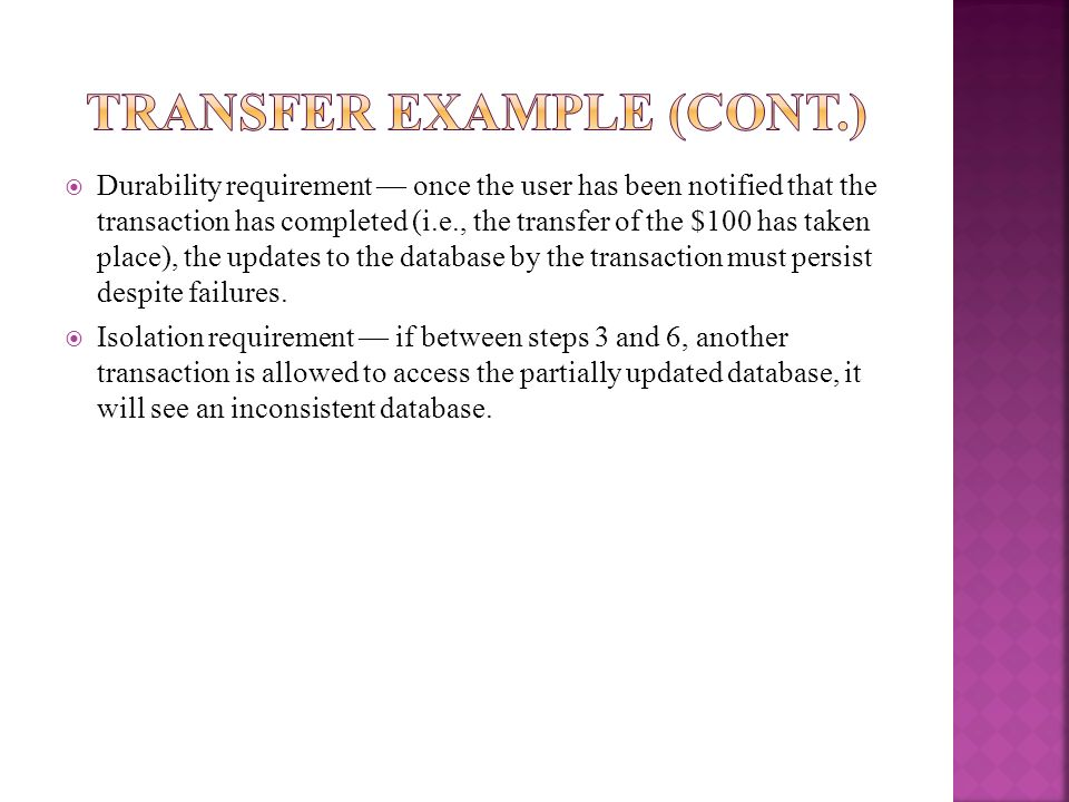 Transfer Example (Cont.)