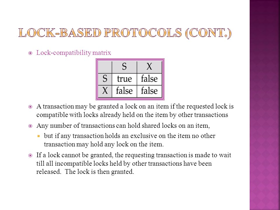Lock-Based Protocols (Cont.)