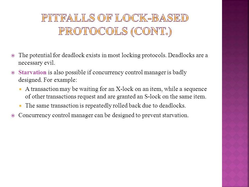 Pitfalls of Lock-Based Protocols (Cont.)