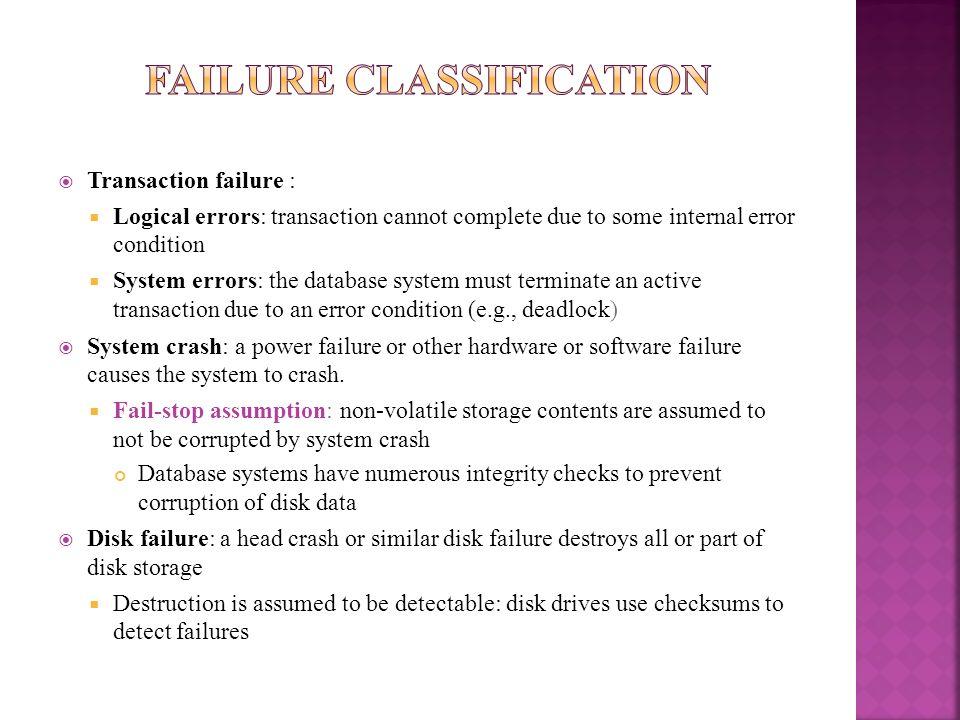 Failure Classification