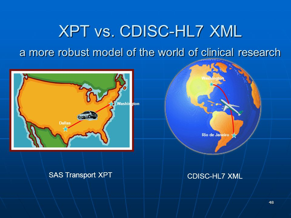 XPT vs. CDISC-HL7 XML a more robust model of the world of clinical research