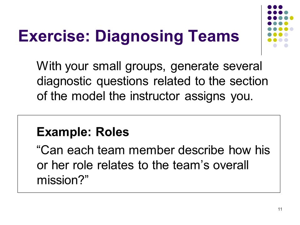 Exercise: Diagnosing Teams