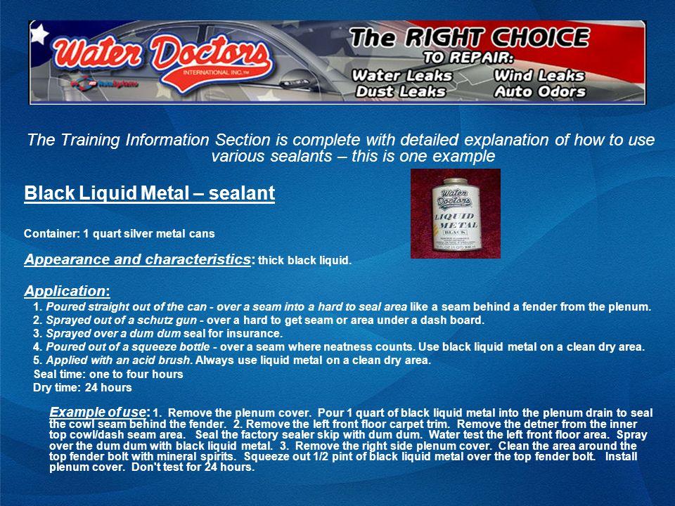 Black Liquid Metal – sealant