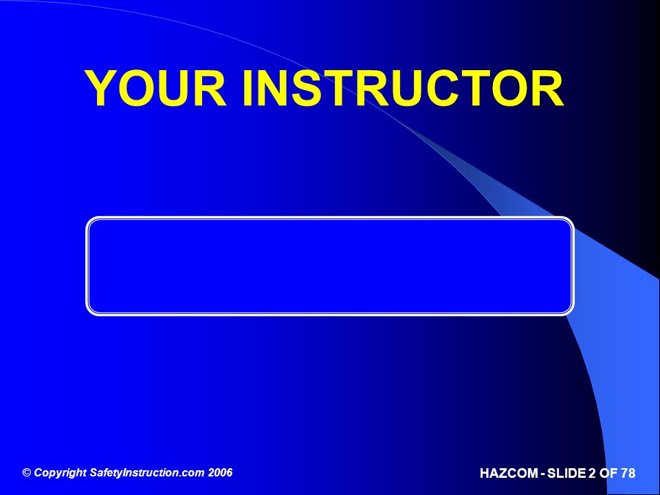 YOUR INSTRUCTOR 2 2