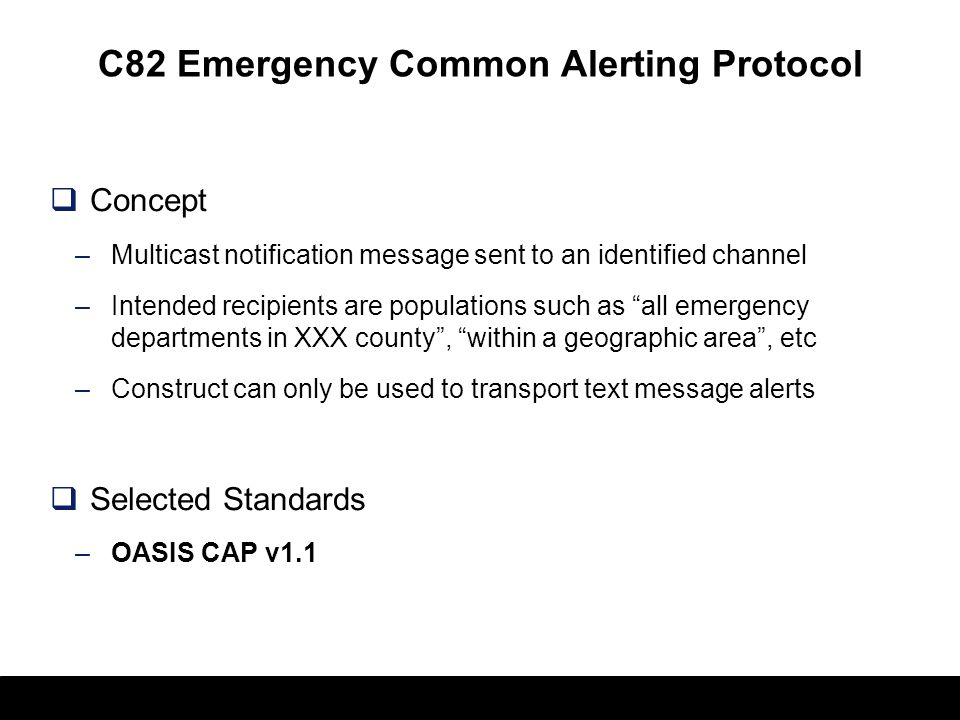 C82 Emergency Common Alerting Protocol