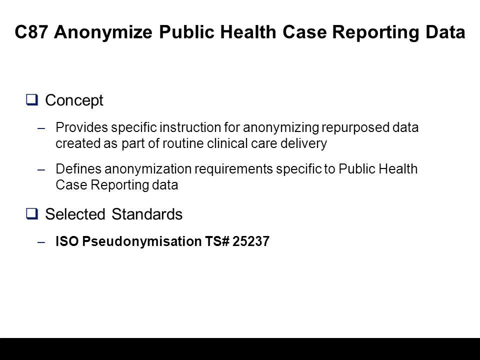 C87 Anonymize Public Health Case Reporting Data