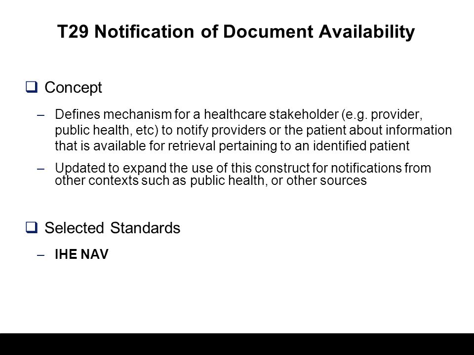 T29 Notification of Document Availability