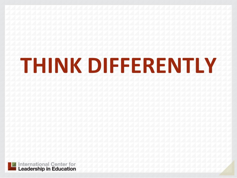THINK DIFFERENTLY 33