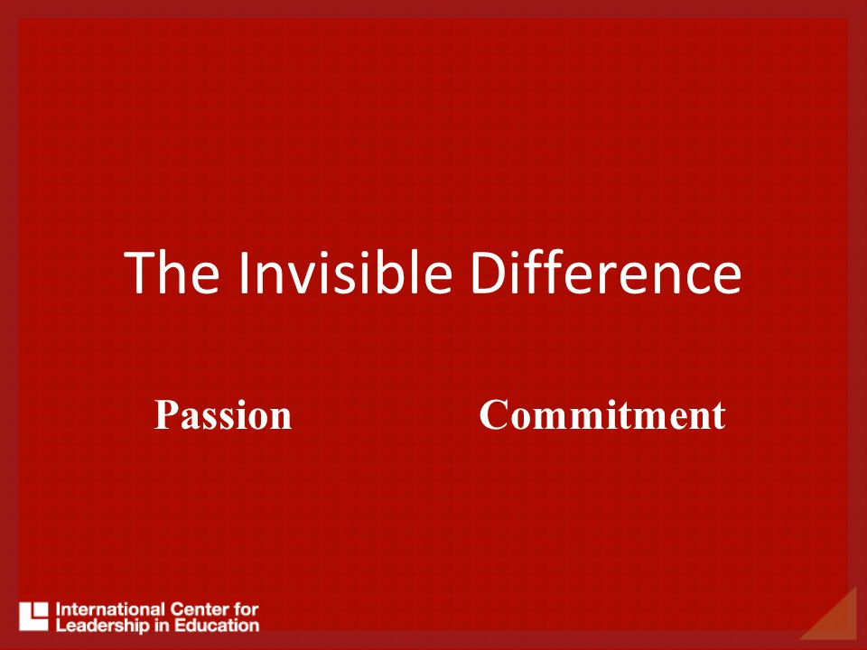 The Invisible Difference