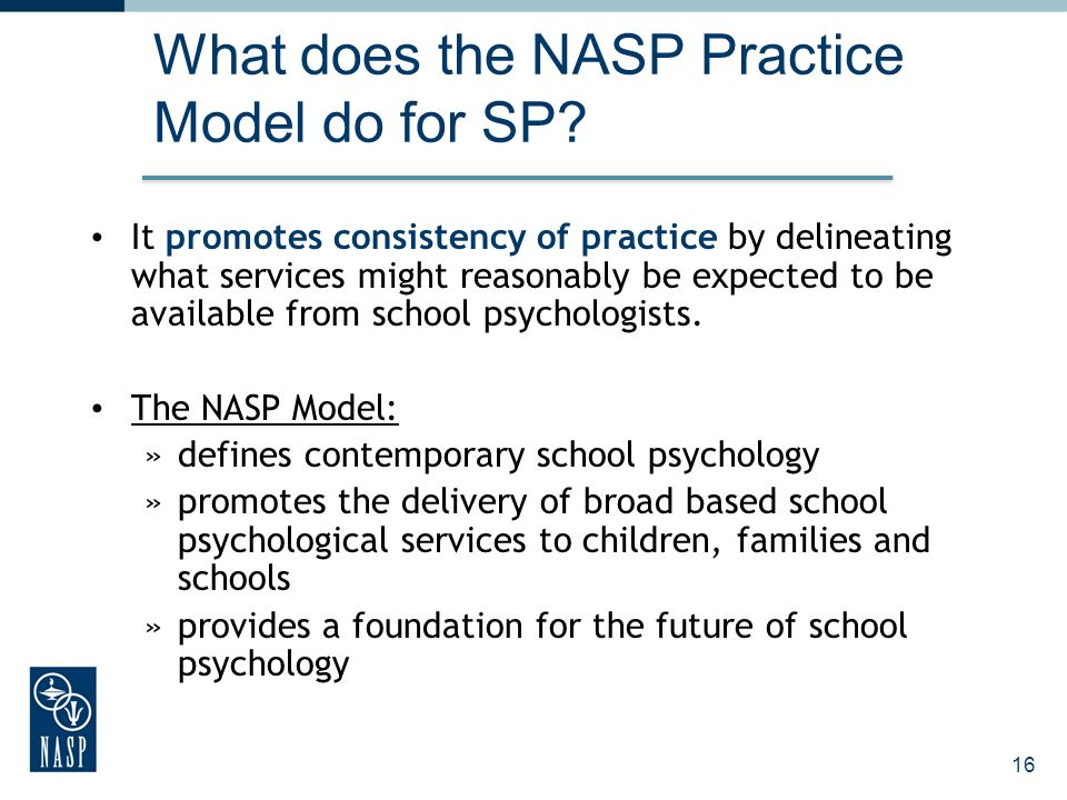 What does the NASP Practice Model do for SP