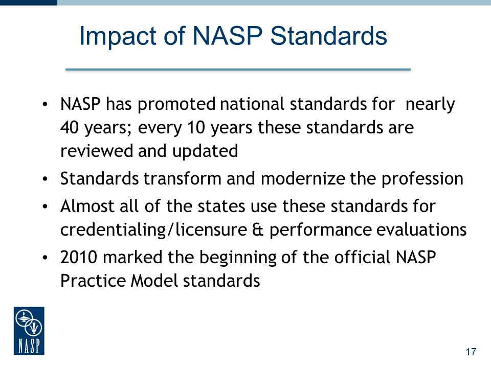 Impact of NASP Standards