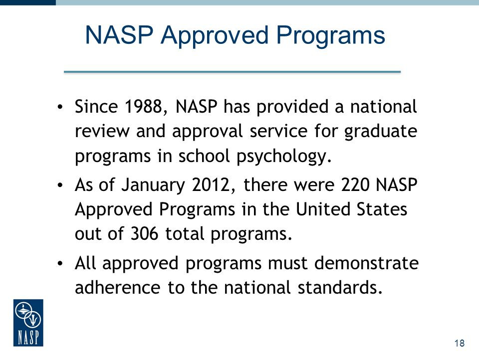 NASP Approved Programs