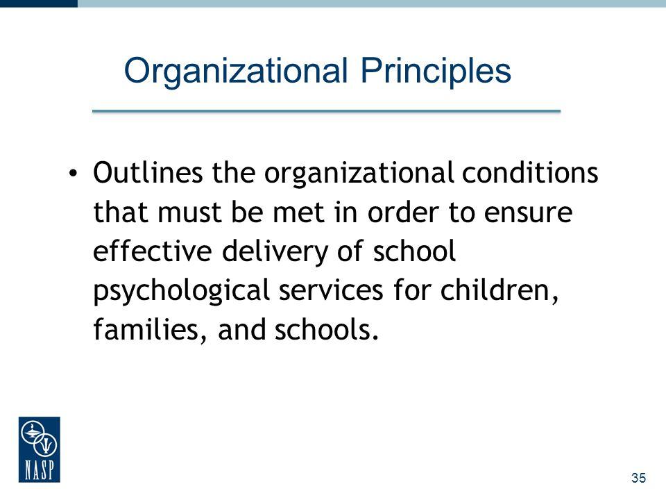 Organizational Principles