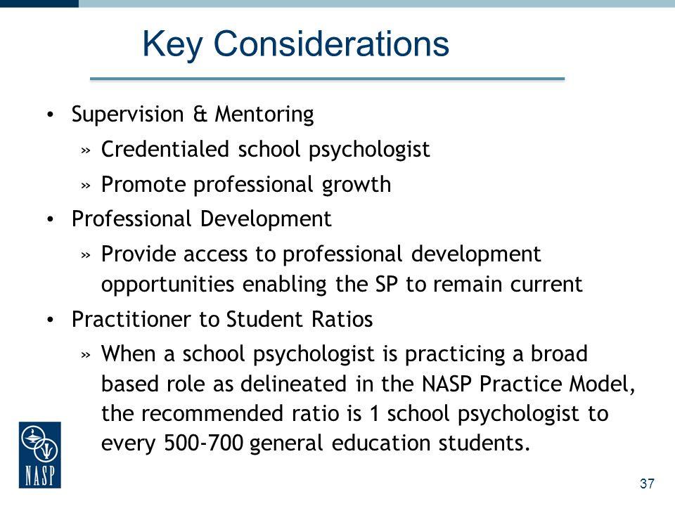 Key Considerations Supervision & Mentoring