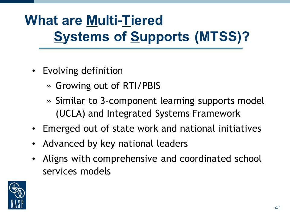 What are Multi-Tiered Systems of Supports (MTSS)