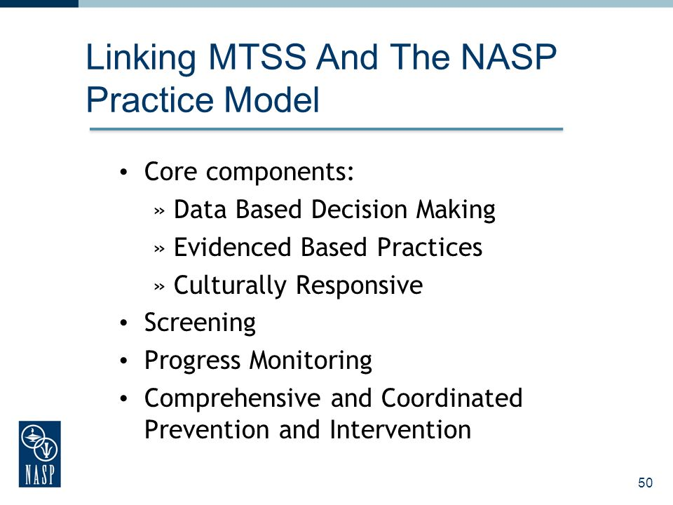 Linking MTSS And The NASP Practice Model