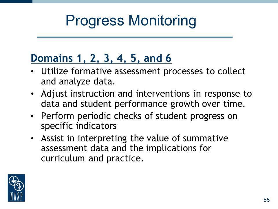 Progress Monitoring Domains 1, 2, 3, 4, 5, and 6
