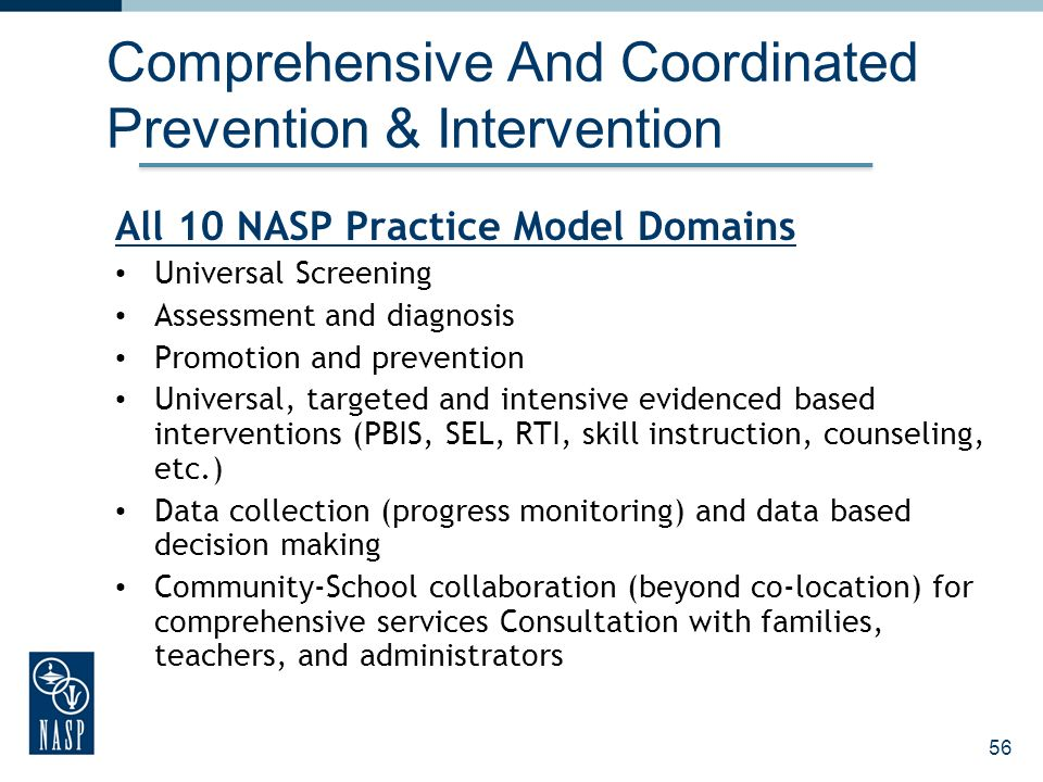Comprehensive And Coordinated Prevention & Intervention