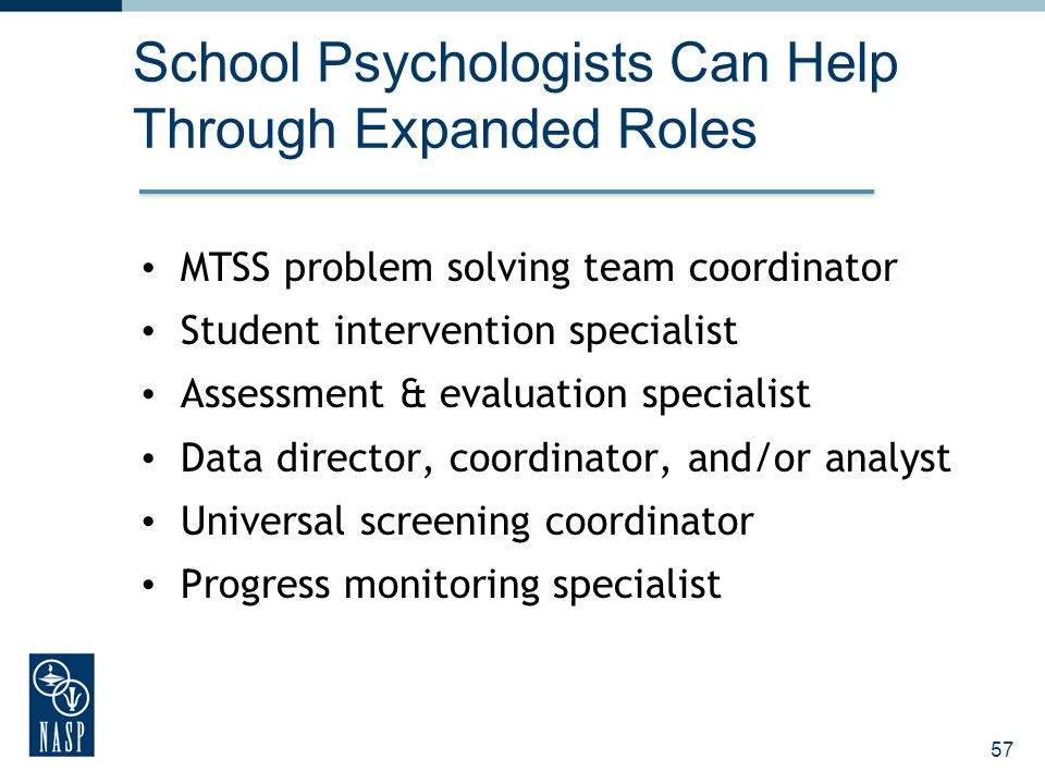 School Psychologists Can Help Through Expanded Roles
