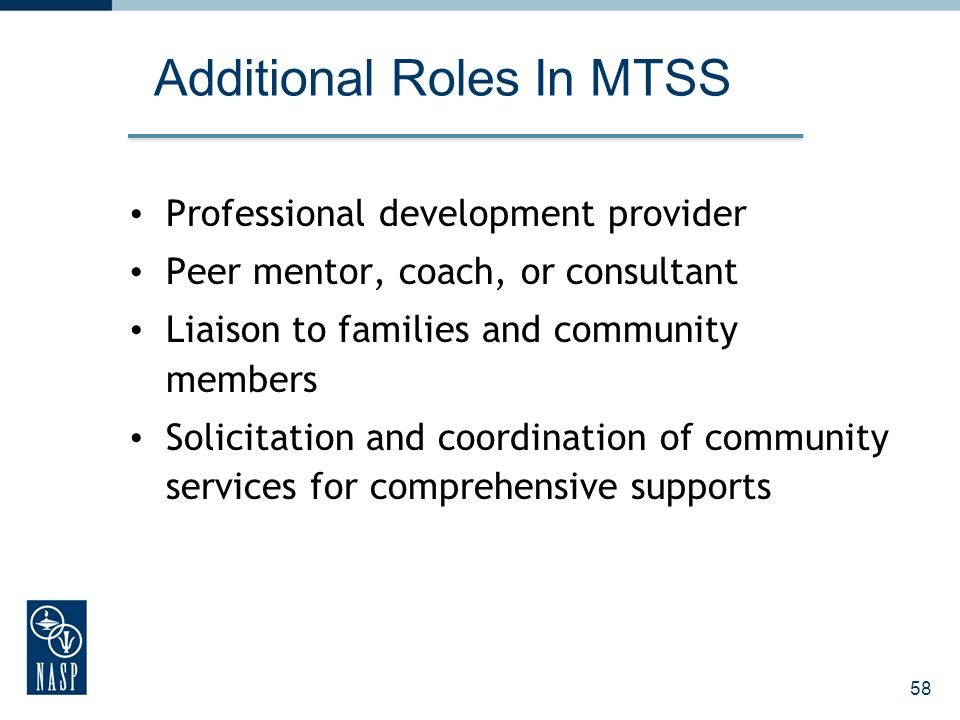 Additional Roles In MTSS