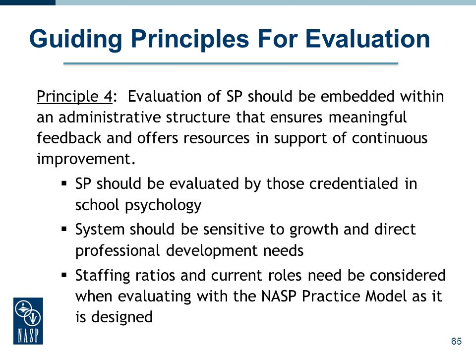 Guiding Principles For Evaluation