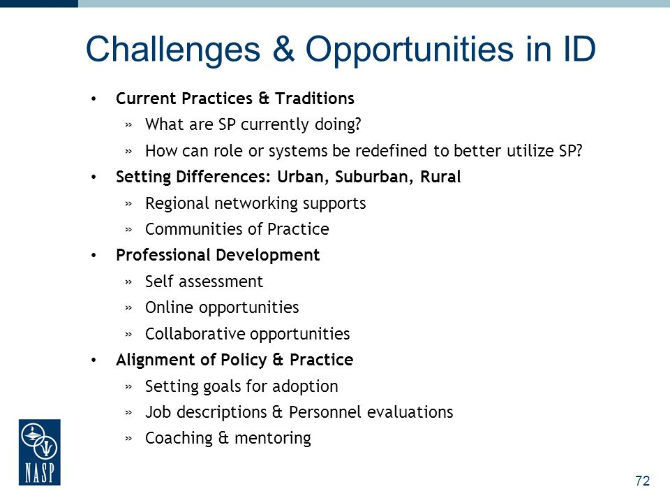 Challenges & Opportunities in ID