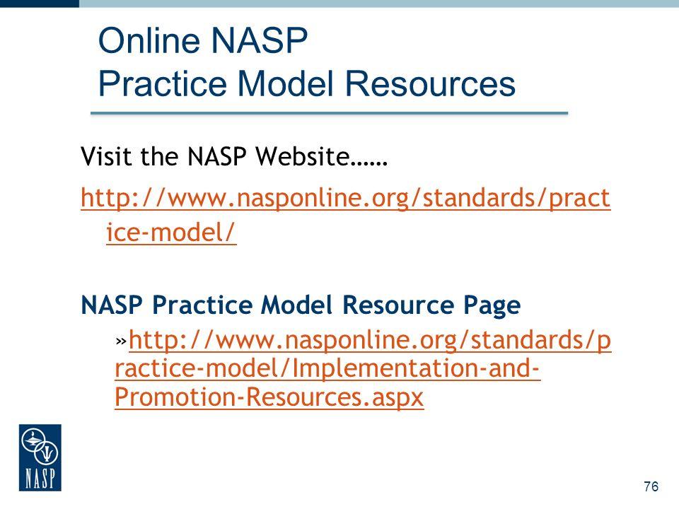 Online NASP Practice Model Resources
