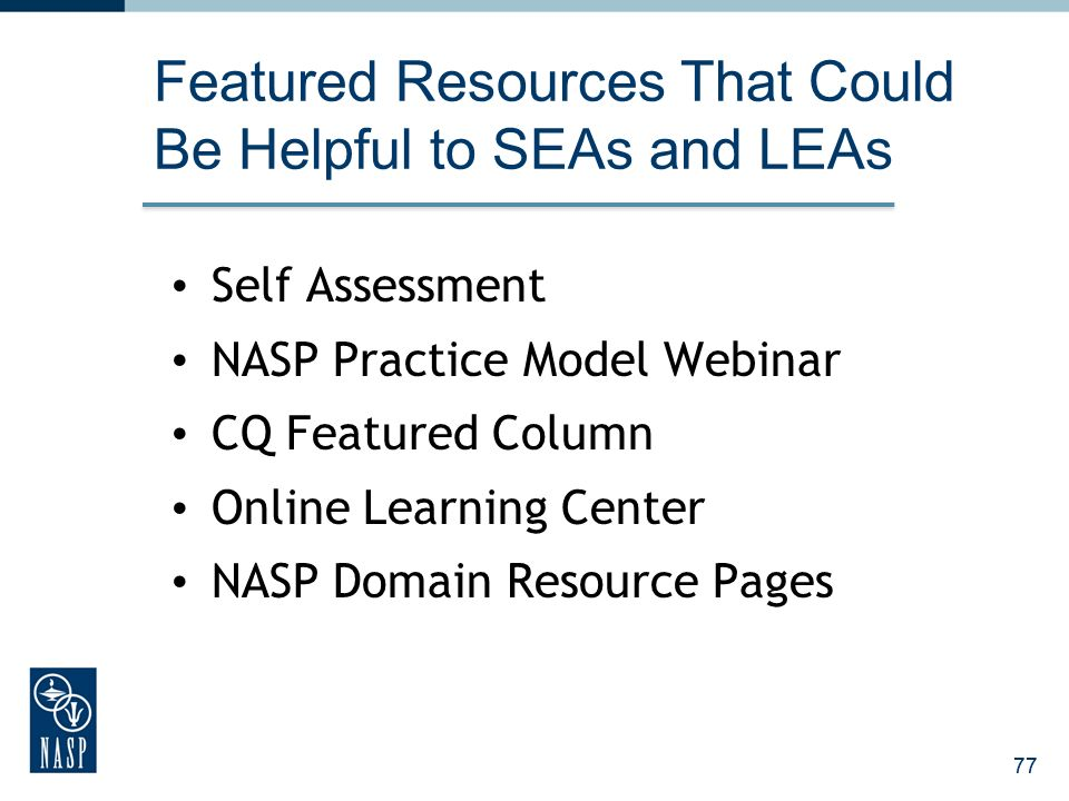 Featured Resources That Could Be Helpful to SEAs and LEAs