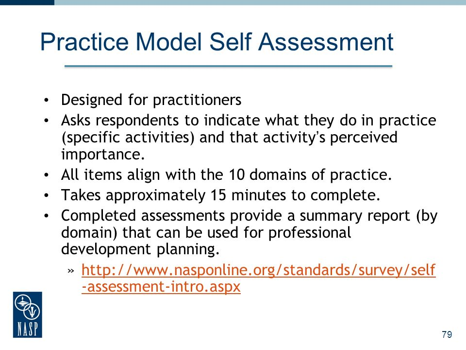 Practice Model Self Assessment