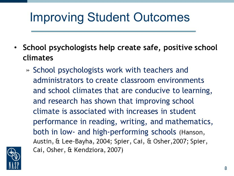 Improving Student Outcomes