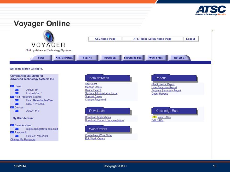 Voyager Online 3/25/2017 Copyright ATSC