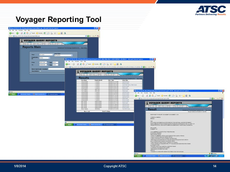 Voyager Reporting Tool