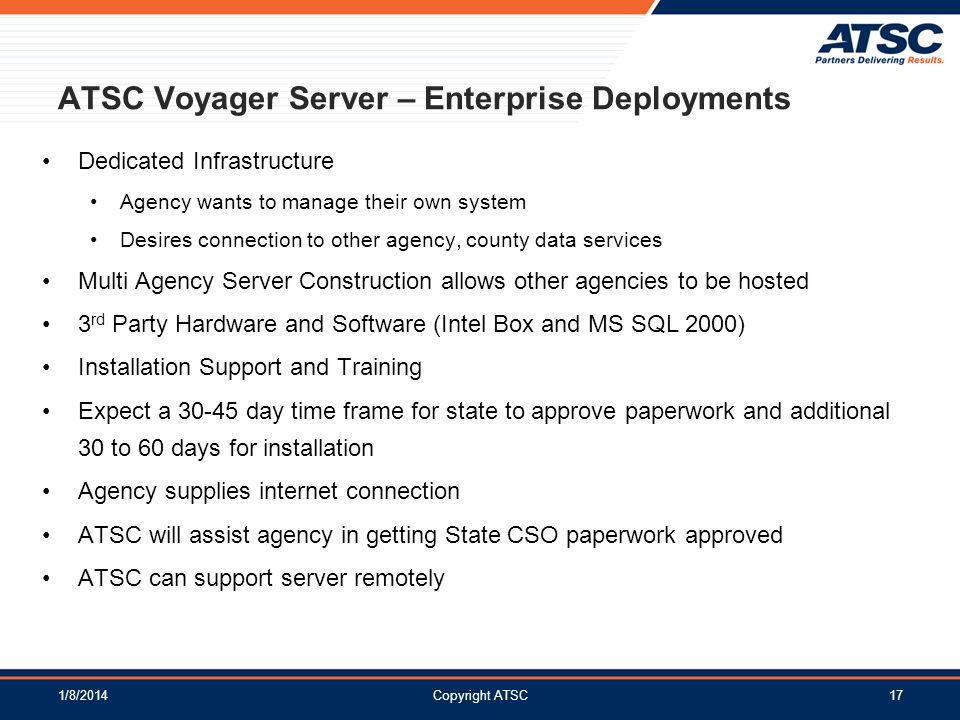 ATSC Voyager Server – Enterprise Deployments